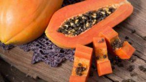 Papaya is loaded with vitamin C and B