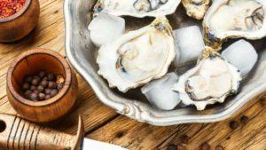 shellfish such as crab, clams, lobster and mussels are high in zinc