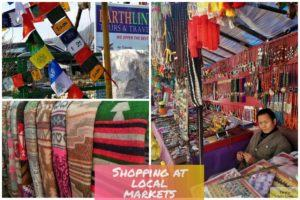 Shopping at local markets in Mcleodganj