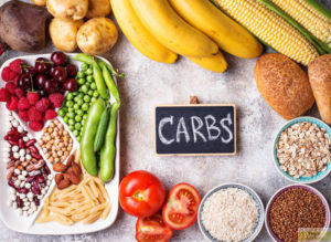 Fruits and vegetables rich in carbohydrates are