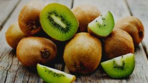 Kiwis are small fruit and an excellent source of Vitamin C